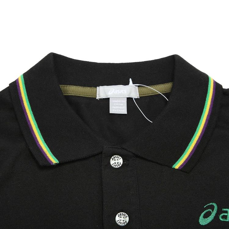 Рубашка поло Asics xaz733/9000 POLO XAZ733-9000 Для мужчин 100 хлопок Стандартный Короткие рукава ( ≧35cm ) Логотип бренда % Для спорта и отдыха