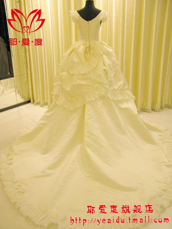 Свадебное платье Jesus degrees 958 2012 YX958 2011 Атлас, сатин Впереди короткое со шлейфом сзади