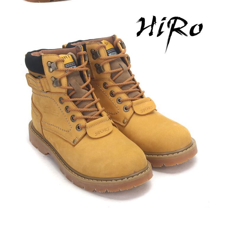 Ботинки мужские Iraq Muyu y067068 Для отдыха Круглый носок Двухслойная кожа Нубук (шершавая кожа) Зима