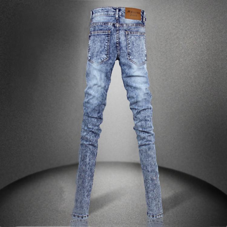 Джинсы мужские MJ 66 2013 Плотно облегающие Классическая джинсовая ткань 2013