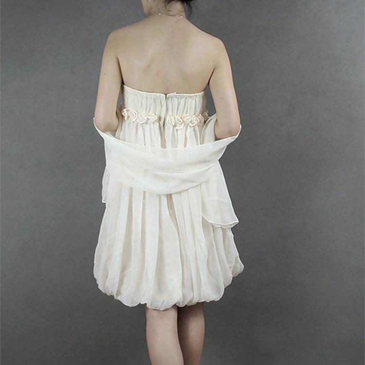Свадебное платье Popular Bride B521 2012 2012 Шифон Мини Корейский