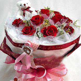11 красных роз рождения букет цветочный магазин в Нинбо City Express о любви Валентина любимому