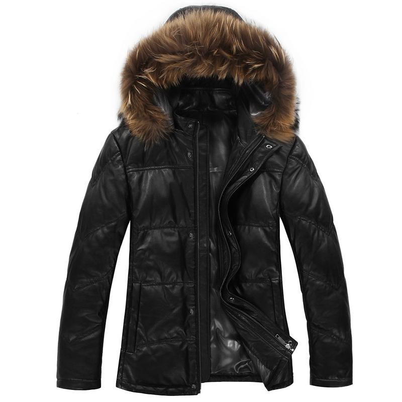 Одежда из кожи Haze l010a Одежда из натуральной кожи Овечья кожа Зимняя Воротник-стойка Модная одежда для отдыха