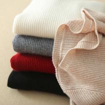 羊绒衫女低领套头一字领纯羊绒短款毛衣长袖山羊绒纯色打底衫秋冬