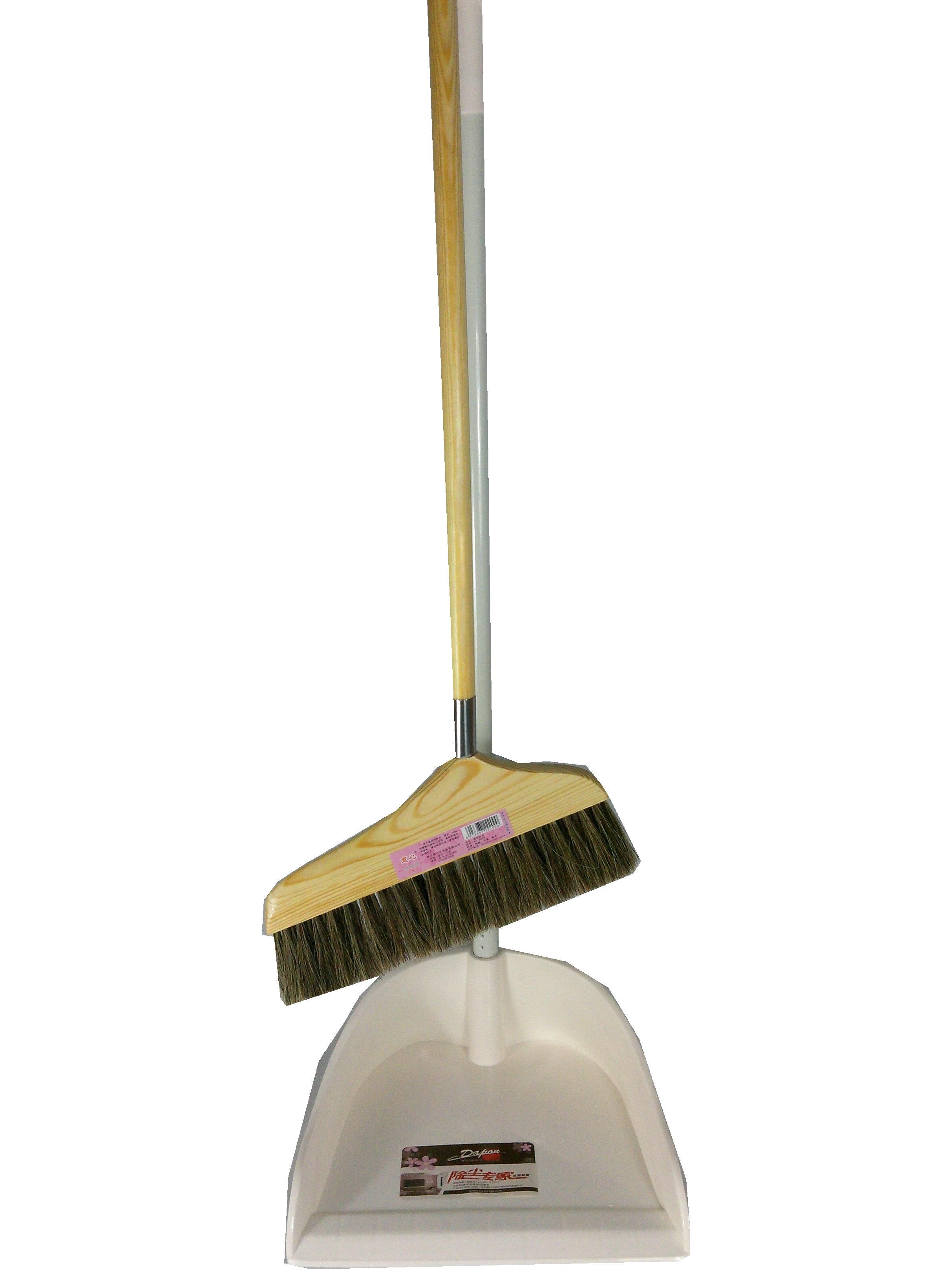 Цвет: Набор совок веник древесины белая щетина