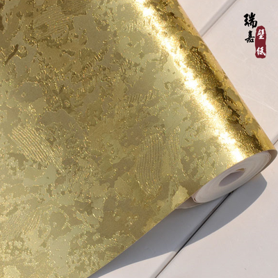 Gold foil wallpaper Hotel KTV parlor entertainment snowflake background wallpaper gold silver ceiling Specials
