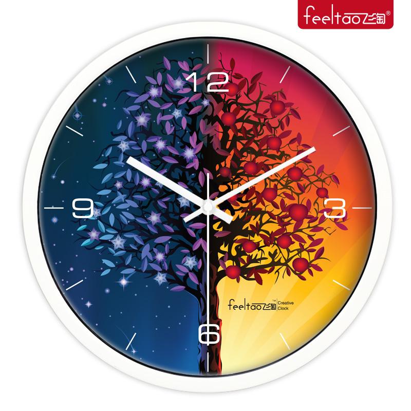 Настенные часы Feeltao fly amoy 116 Стиль минимализм Металл Односторонний