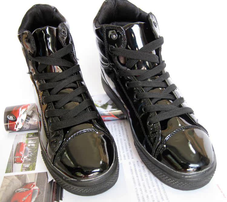 Круглый носок Плоская подошва Шнурок Плоская подошва Клееная обувь С блестками Однотонный цвет