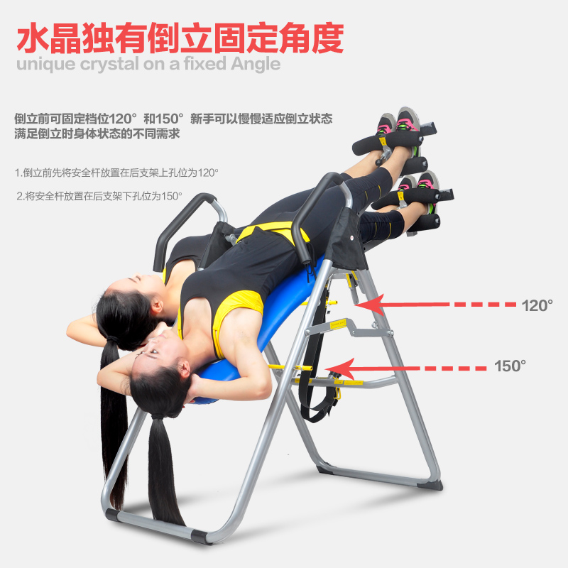 Crystal Handstand Machine Authentic Stretcher Hanging Upside Down Chair Bed  Is Elevated Equipment Home Fitness Equipment