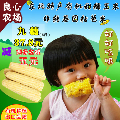 黑龙江糯玉米棒9根5斤东北粘玉米熟非转基因白黏嫩玉米营养早餐