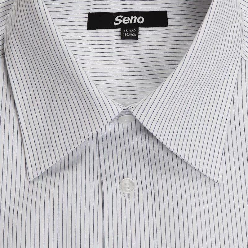 Рубашка мужская Seno 2013 Крашенный в пряже Воротник с пуговицами Короткие рукава (длина рукава <35см)