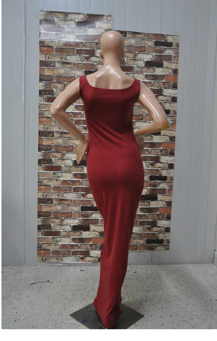 2014ebay горячие новые сексуальные хлопка жилет платье элегантной европейской моды клуб платье большое пятно