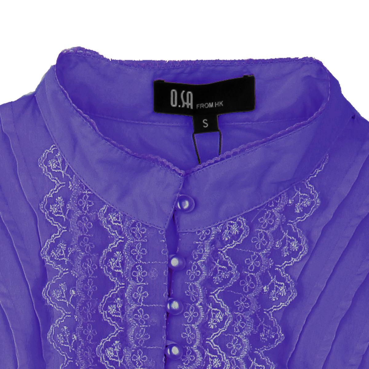 женская рубашка OSA sc90207 OSA2011 OL C90207 Длинный рукав В клетку Закругленный вырез