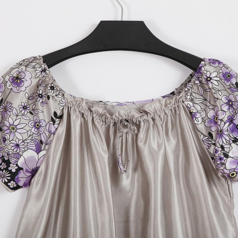 Ночная рубашка Meng/yue Lin 2013 Полиэстер Имитация натурального шёлка О-вырез Лето