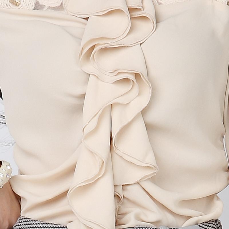 женская рубашка Kvenstar 8661 2012 Длинный рукав Однотонный цвет Один ряд пуговиц