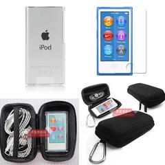 适用苹果ipod nano7保护套nano 8保护壳 透明水晶壳贴膜收纳盒