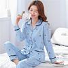 睡衣女春秋季纯棉长袖套装全棉中老年妈妈加大码薄款可外穿家居服