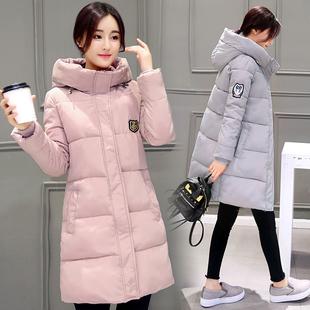 2018反季女装冬季棉衣女中长款学生加厚羽绒棉服外套冬装