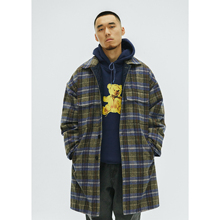 WHOOSIS 2018AW Plaid Wool Trench Coa t 格子毛呢夹棉风衣大衣