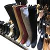 韩国东大门女鞋方头绒面包腿显瘦糖果色过膝长筒靴平底骑士马靴潮