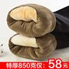 棉裤男冬季加绒加厚东北三层特厚大码内穿驼绒裤保暖裤男单件