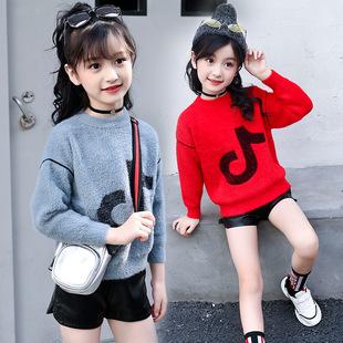 7女大童秋装毛衣外套8儿童春秋10抖音针织衫12小学生13女孩15岁潮