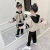 童装女童套装秋冬装2018洋气加绒加厚冬季儿童卫衣两件套