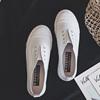 2018秋季小白鞋一脚蹬帆布鞋女板鞋懒人套脚鞋低帮鞋