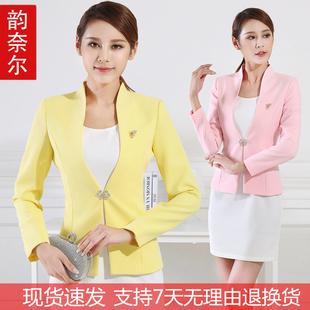 播音主持上镜服装女艺考小西装气质职业套装短款西服外套