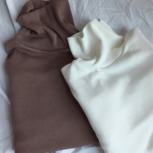 纯色高领打底衫女秋天衣服2018百搭少女内搭长袖上衣