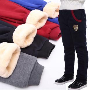 男孩童秋冬长裤加绒加厚棉裤中大童5-15岁运动裤保暖宽松外穿