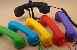 复古式通用听筒式iphone6外接耳机手机电话筒防辐射孕妇时尚配件