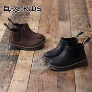 女童靴子2018秋冬季儿童马丁靴女童短靴男童加绒皮靴儿童靴子