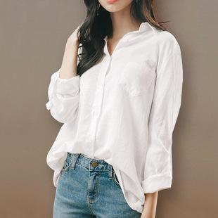 棉麻白色衬衫女2019宽松很仙的衬衣上衣短袖设计感小众夏