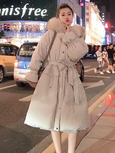 反季棉服女中长款学生加厚2019冬季小个子宽松棉袄外套潮