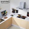 凯鹰免打孔太空铝厨房置物架壁挂黑色挂件多功能收纳碗碟架架