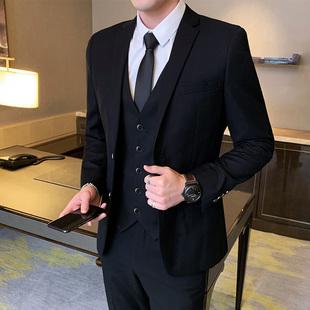 西装套装男士商务青少年小西服外套结婚礼服职业正装