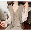 钱夫人CHINSTUDIO喇叭袖蕾丝打底衫女冬荷叶边波点网纱很仙的上衣