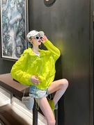 2021春夏糖果色防晒服宽松纯色百搭外套女装显瘦韩版连帽上衣