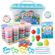 亲子企鹅超轻粘土24色套装太空泥黏土儿童玩具女孩无毒橡皮泥彩泥