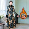 秋冬季旗袍小棉袄加厚保暖改良旗袍女装长款优雅连衣裙夹棉中国风