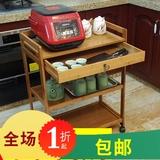 查看精选2019物架实木桌子可移动折厨房台置叠餐车推车收纳小最新价格