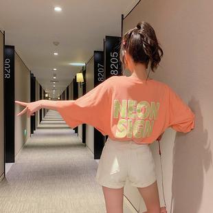 2019夏装超火cec短袖T恤女中袖半袖女宽松ins潮洋气网红