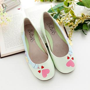 原创设计女单鞋平底瓢鞋娃娃鞋浅口羊皮手工鞋女鞋子