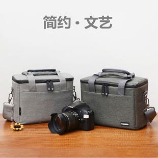佳能EOS RP R5 M6 M50 M200 100D 200D2单反相机包 双镜头摄影包