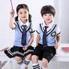 夏季校服儿童英伦风套装男女童短袖夏装孩子甜美仙女园服小童