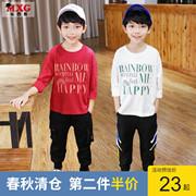 米西果 童装男童体恤儿童上衣纯棉t恤 2020春秋款 韩版洋气潮