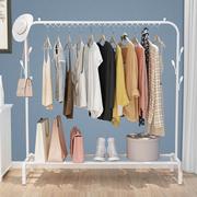 晾衣架单杆落地式挂衣架卧室内折叠晾衣杆简易衣架家用凉衣服架子