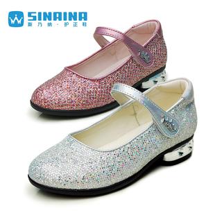 斯乃纳女童皮鞋2020公主鞋舞蹈鞋礼仪鞋时尚单鞋SP420