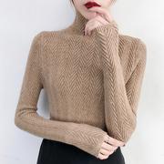 高领内搭毛衣女士秋冬2018打底衫长袖套头紧身针织衫加厚